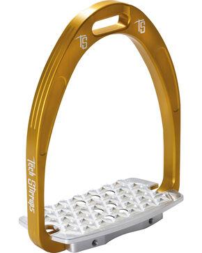 Tech Stirrups Gold Iris Cross Country Irons , Gold, hi-res