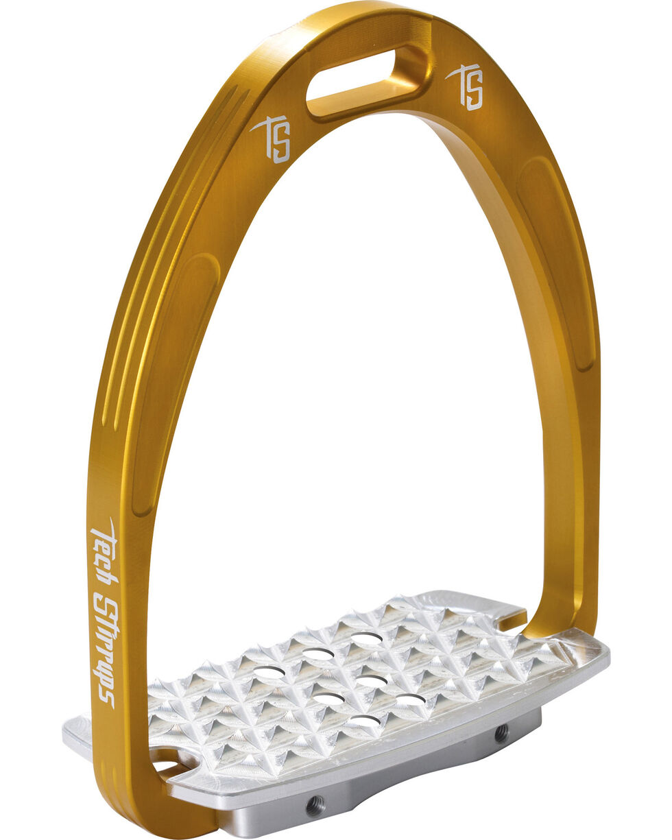 Tech Stirrups Gold Iris Cross Country Irons , Gold, hi-res
