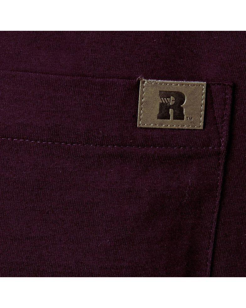 Wrangler Riggs Men's Solid Henley Long Sleeve Work T-Shirt , Burgundy, hi-res
