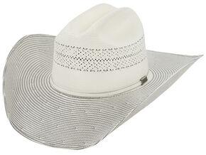 0ed2cf1b555 Larry Mahan Men s 10X Grey Cinch Straw Cowboy Hat