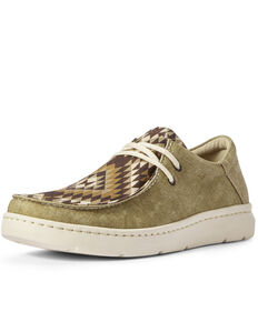 Ariat Men's Hilo Desert Oasis Print Shoes - Moc Toe, Brown, hi-res