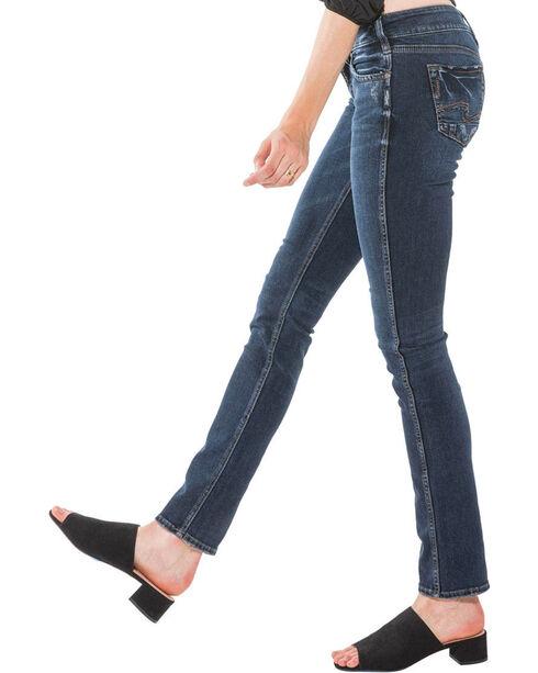 Silver Women's Elyse Rinse Wash Jeans - Straight Leg , Indigo, hi-res