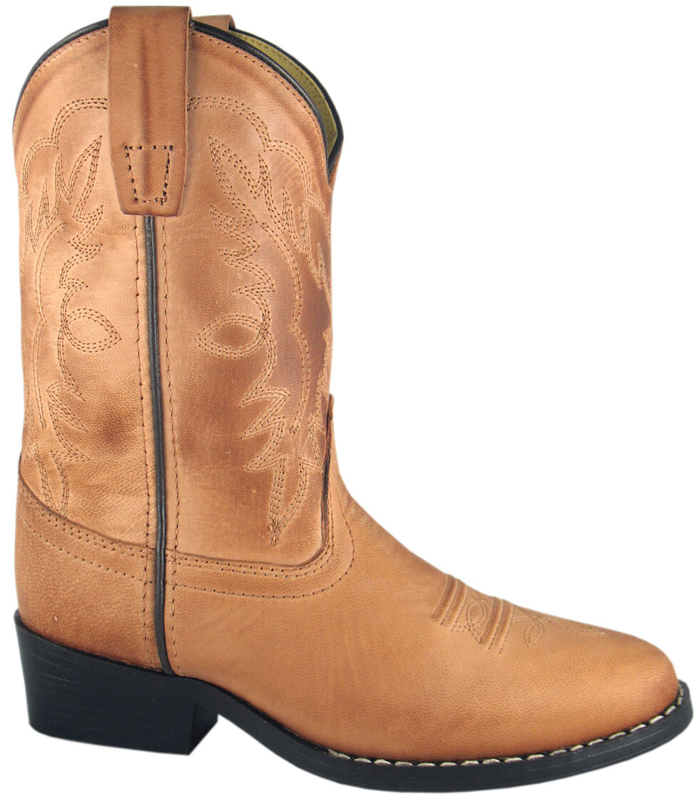 Smoky Mountain Youth Boys' Bomber Western Boots - Round Toe, Tan, hi-res