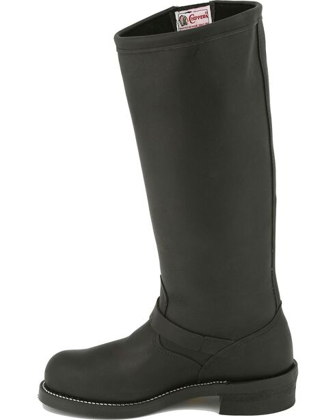 Chippewa Motorcycle Boots - Steel Toe, Black, hi-res