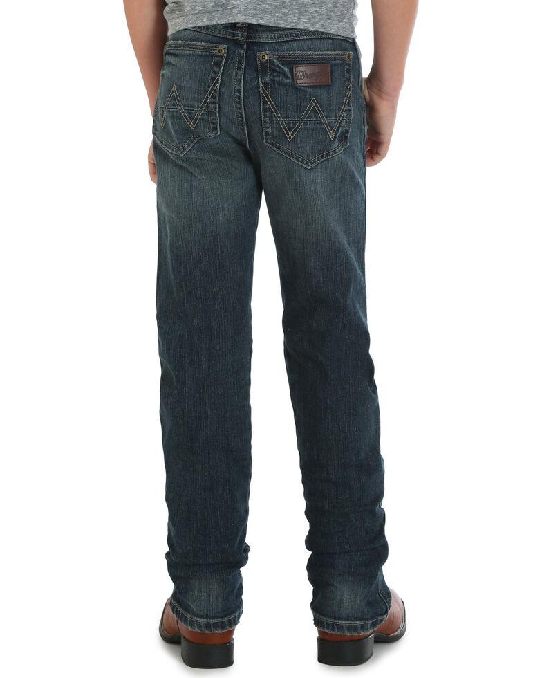 Wrangler Retro Boys' (8-16) Slim Straight Fit Jeans , Indigo, hi-res
