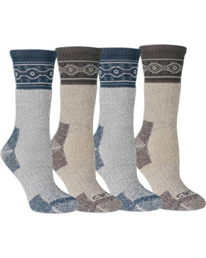 Carhartt Women's 4 Pack Wool Blend Socks, Teal, hi-res