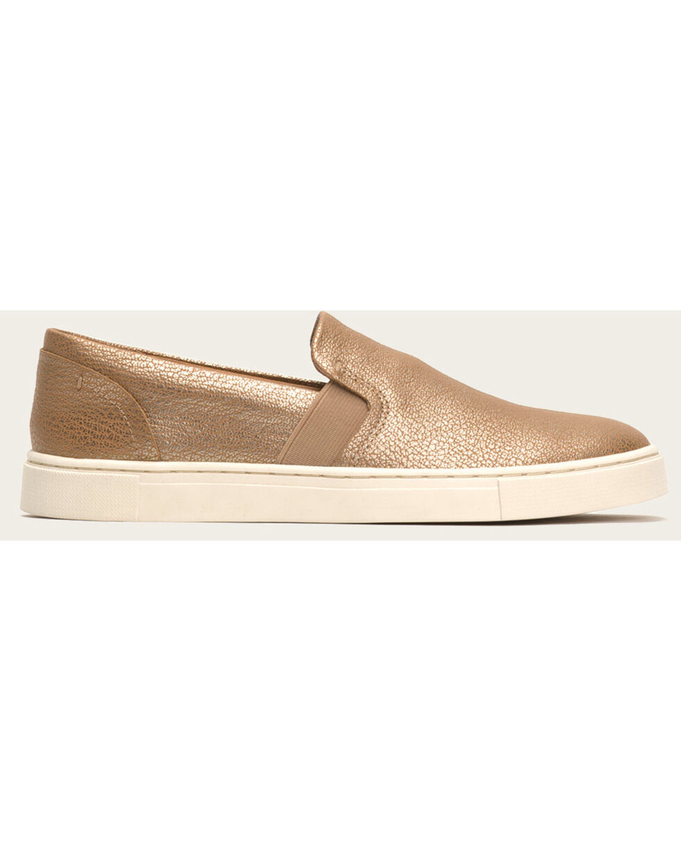 Frye Women's Gold Ivy Slip On Shoes , Gold, hi-res