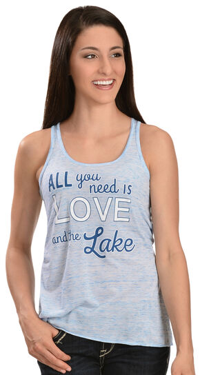 ATX Mafia Love & the Lake Tank Top, Blue, hi-res