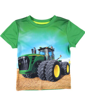 John Deere Toddler Boys' Green Field Tractor T-Shirt , Green, hi-res