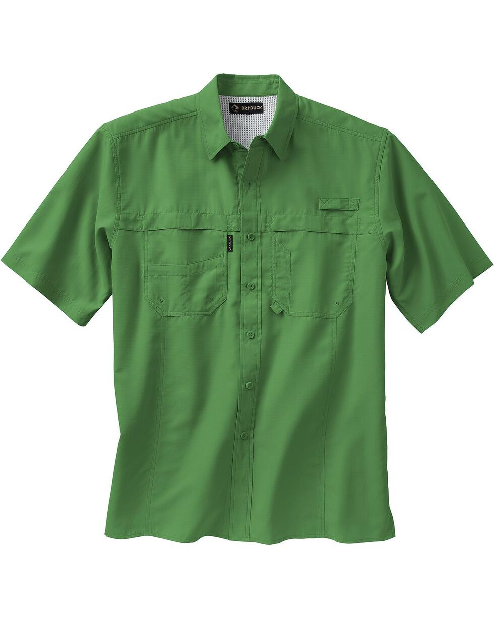 Dri Duck Men's Catch Short Sleeve Shirt - 3X & 4X, Green, hi-res