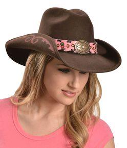 Bullhide Annie Oakley Cowgirl Hat, Chocolate, hi-res