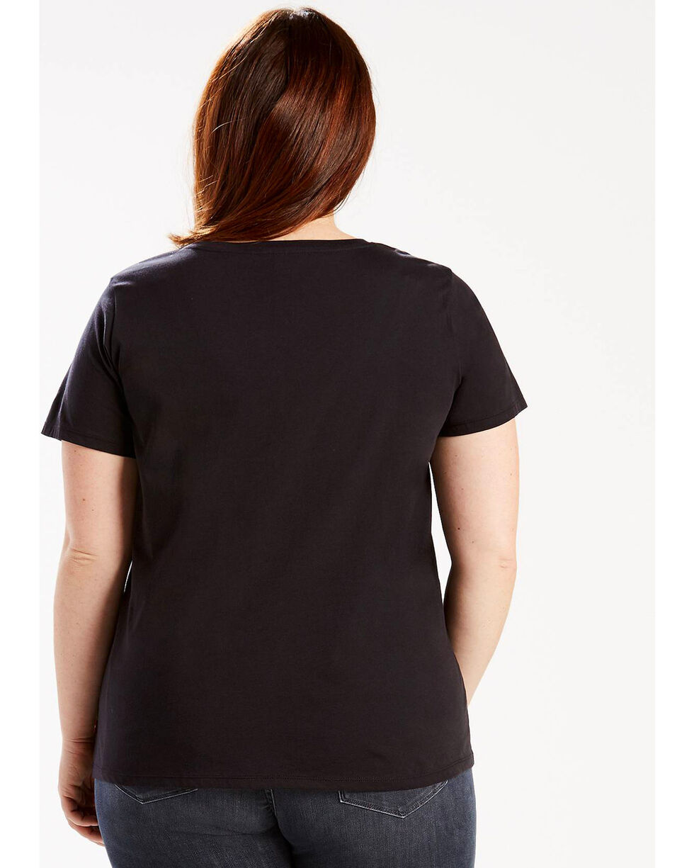 Levi's Women's Black Perfect Tee - Plus , Black, hi-res