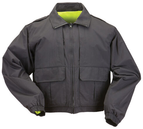5.11 Tactical Reversible High-Visibility Duty Jacket - 3XL and 4XL, Black, hi-res