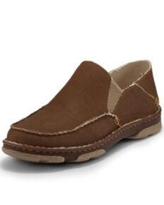 Tony Lama Men's Gator Khaki Shoes - Moc Toe, Brown, hi-res
