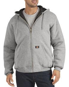 Dickies Heavyweight Quilted Fleece Zip-Up Hoodie, Hthr Grey, hi-res