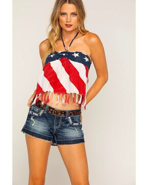 Shyanne Women's Stars & Stripes Tube Top, Red/white/blue, hi-res