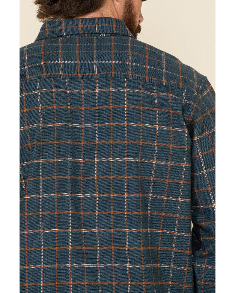 Wrangler Riggs Men's Multi Plaid Heavyweight Flannel Long Sleeve Work Shirt - Big , Orange, hi-res