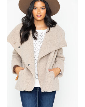 Ariat Women's Plaza Taupe Moonlit Shearling Jacket , Taupe, hi-res