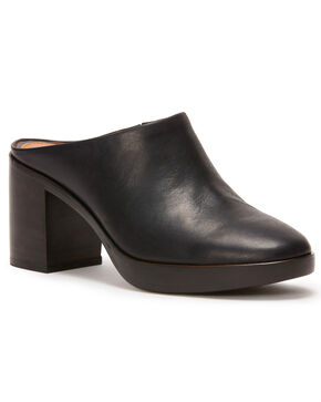 Frye Women's Black Joan Campus Mules - Round Toe, Black, hi-res