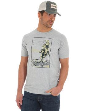 Wrangler Men's Vintage Roper T-Shirt, Heather Grey, hi-res