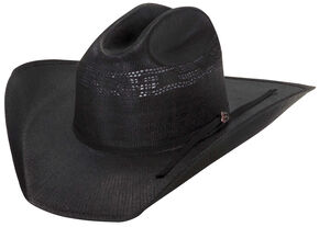 Justin 20X Cutter Black Straw Cowboy Hat, Black, hi-res
