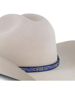 Cody James® Indigo Tribal Embroidered Hat Band, Indigo, hi-res