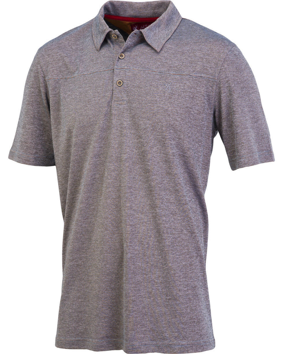 Browning Men's Grey Berkshire Short Sleeve Polo , Grey, hi-res