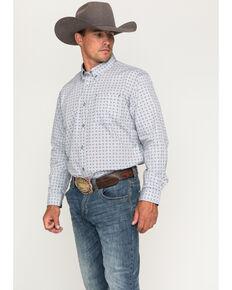 Cody James Core Men's Hazer Print Long Sleeve Shirt, Silver, hi-res