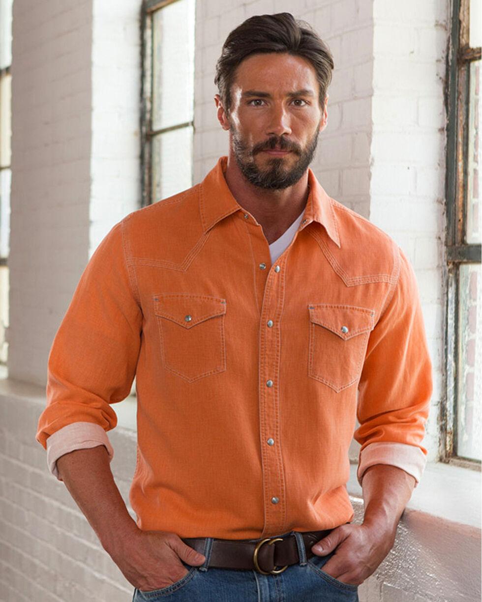 Ryan Michael Men's Orange Waffle Texture Shirt, Orange, hi-res