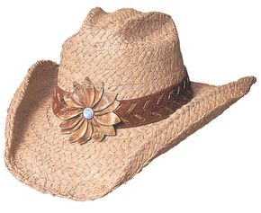 Bullhide Sunset Braided Raffia Straw Cowgirl Hat, Natural, hi-res