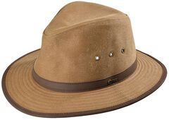 Outback Trading Co. Tan Madison River UPF50 Sun Protection Oilskin Hat, Tan, hi-res