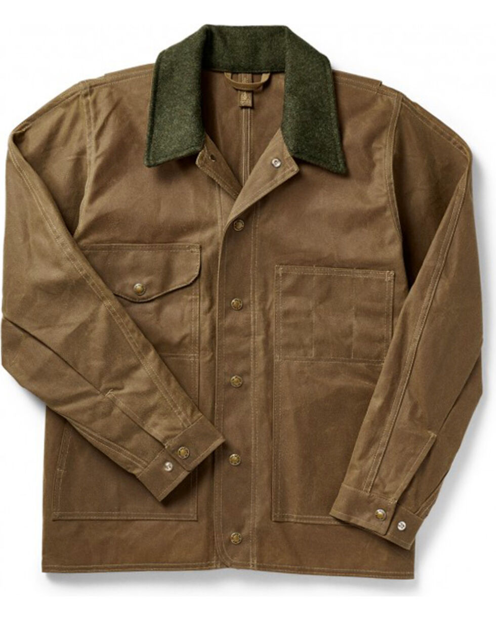 Filson Men's Tin Cloth Jacket - Extra Long, Tan, hi-res