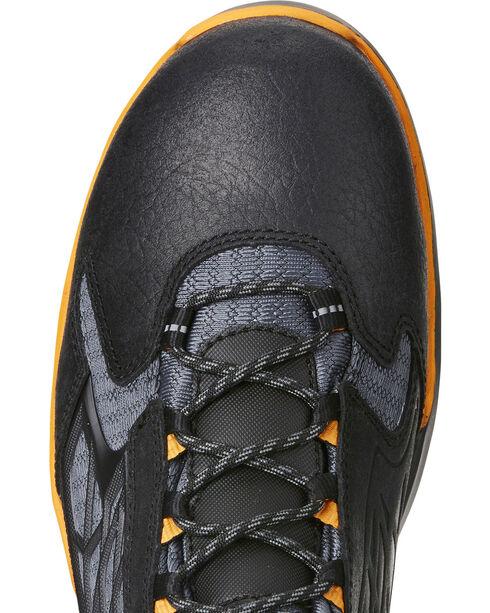 """Ariat Men's Rebar Flex 6"""" Black Work Boots - Soft Toe, Black, hi-res"""