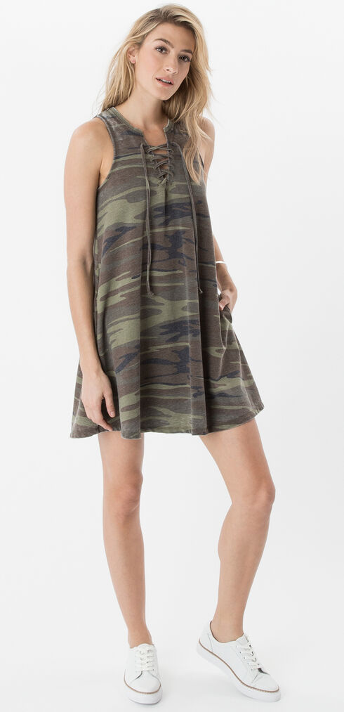 Z Supply Camo All Tied Up Dress, Camouflage, hi-res