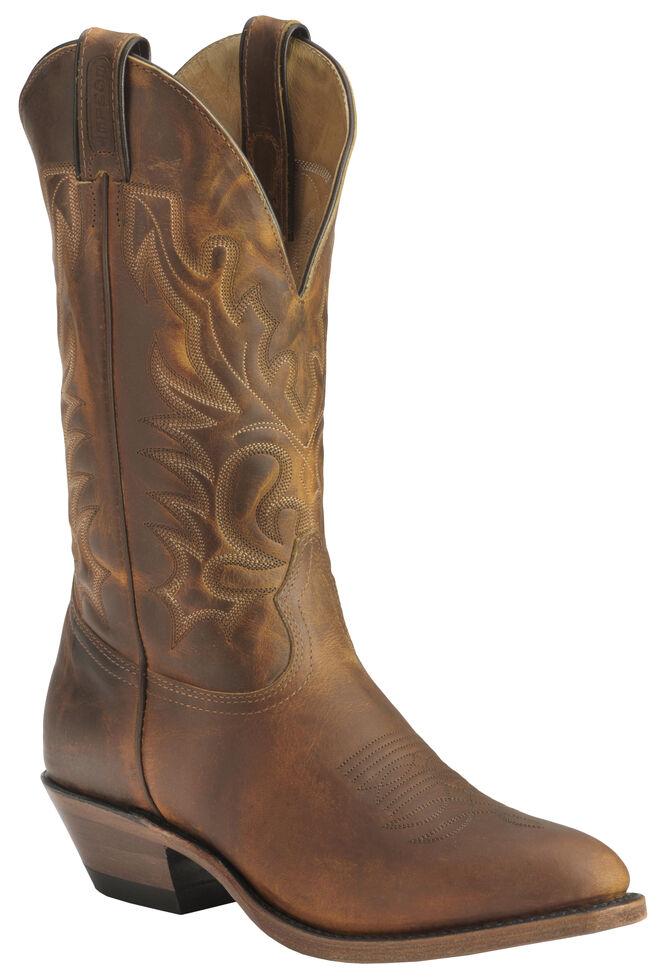 Boulet Cowboy Boots - Medium Toe, Tan, hi-res