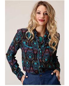 Roper Women's Multi Paisley Long Sleeve Western Shirt , Multi, hi-res