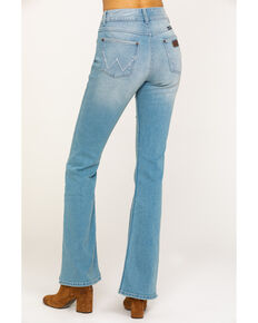 Wrangler Retro Women's Mae Flare Mid Light Flare Jeans , Blue, hi-res