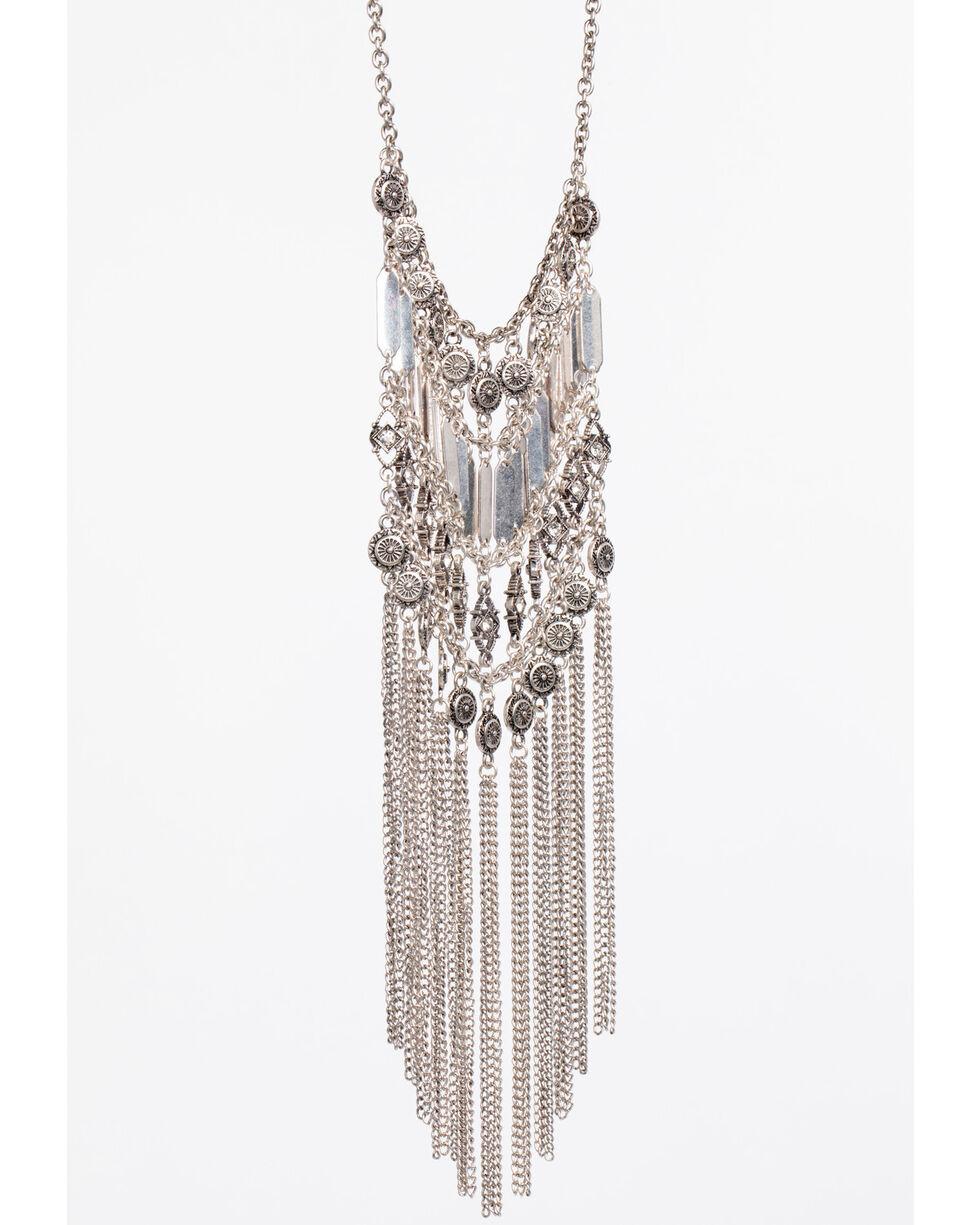 Shyanne Women's Statement Ladder Necklace, Silver, hi-res