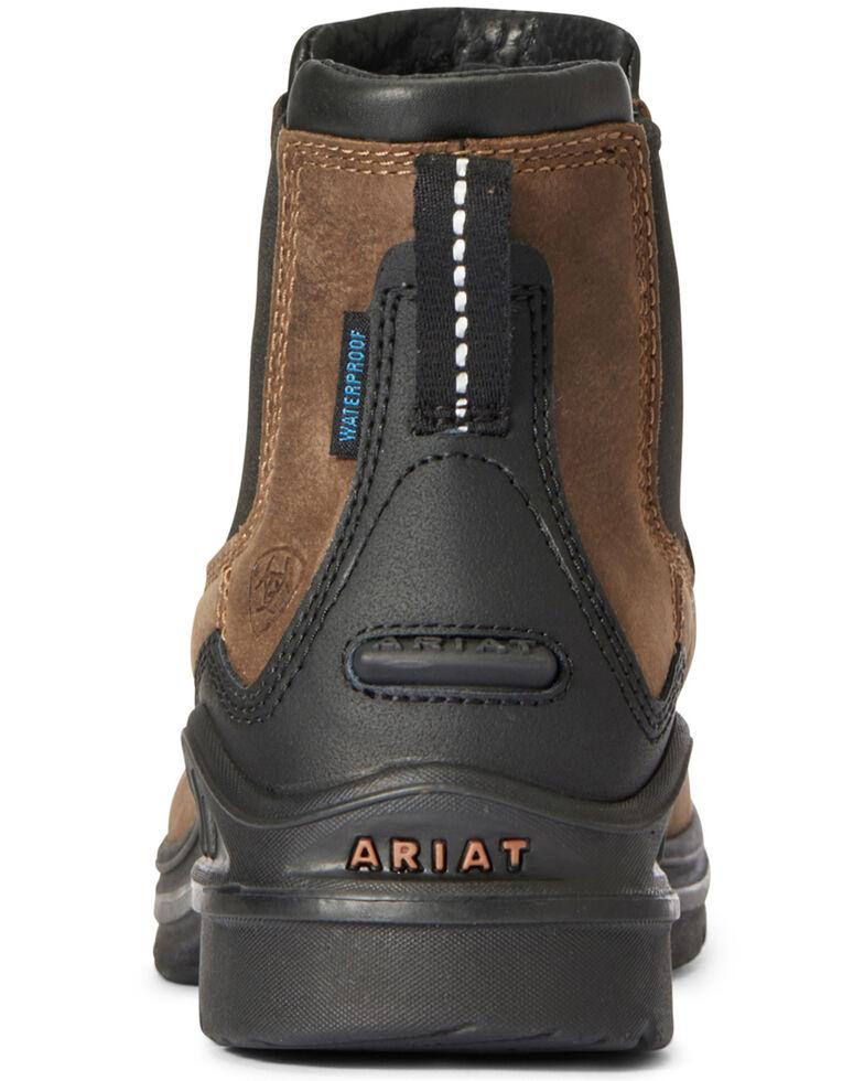 Ariat Women's Barnyard Twin Gore Boots - Round Toe, Brown, hi-res