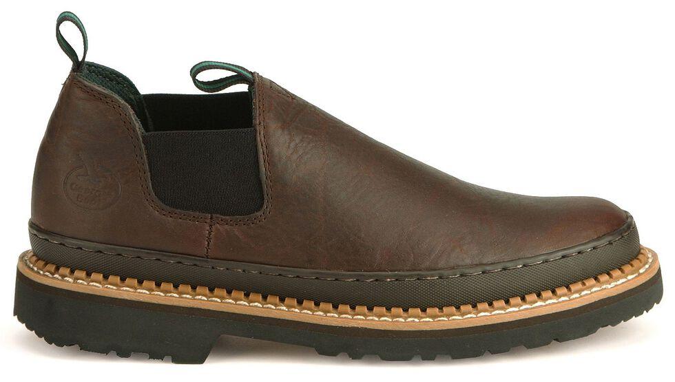 Georgia Giant Romeo Slip-On Work Shoes, Dark Brown, hi-res