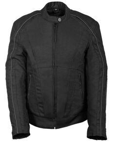 Milwaukee Leather Women's Textile Jacket w/ Stud & Wings Detailing - 4X, Black, hi-res