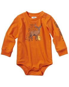 Carhartt Infant Boys' Be Wild Graphic Long Sleeve Body Shirt , Orange, hi-res