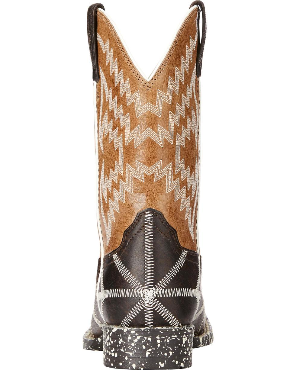 Ariat Boys' Brown Phantom Tycoon Western Boots - Square Toe , Dark Brown, hi-res