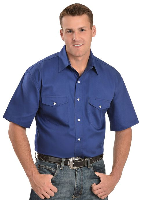 Exclusive Gibson Trading Co. Royal Blue Western Shirt - Reg, Royal, hi-res