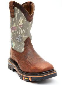 Cody James Men's Camo Decimator Western Work Boots - Soft Toe, Brown, hi-res