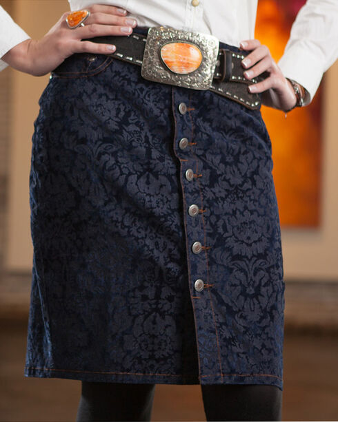 Ryan Michael Women's Ruby Skirt, Indigo, hi-res