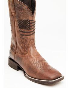 Ariat Men's Circuit Patriot Western Boots - Square Toe, Distressed Brown, hi-res