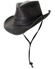 Cody James Men's Outback Weathered Sun Hat, Black, hi-res
