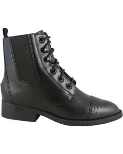 Smoky Mountain Childrens' Paddock Boots, Black, hi-res