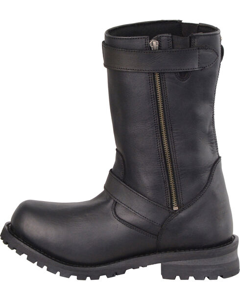 "Milwaukee Leather Men's 11"" Classic Engineer Boots - Wide, Black, hi-res"